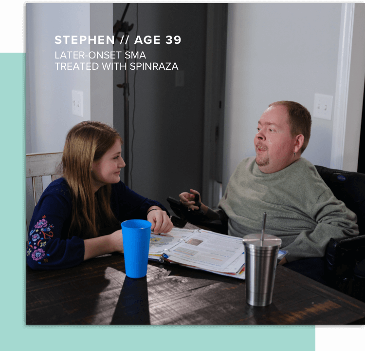 a later-onset adult patient with spinal muscular atrophy on SPINRAZA